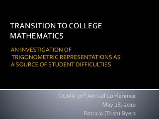 Transition to college mathematics