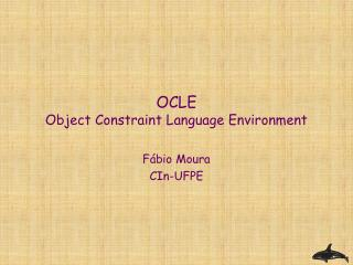 OCLE Object Constraint Language Environment