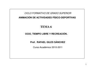 CICLO FORMATIVO DE GRADO SUPERIOR