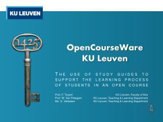 OpenCourseWare KU  Leuven