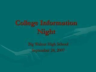 College Information Night