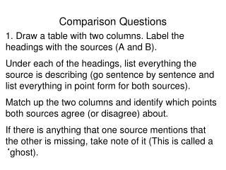 Comparison Questions