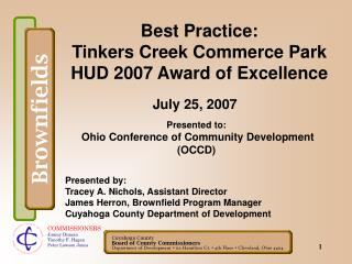 Best Practice: Tinkers Creek Commerce Park HUD 2007 Award of Excellence