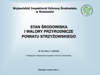 Wojewódzki Inspektorat Ochrony Środowiska  w Rzeszowie