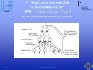 8.  Repräsentation von Zeit  in neuronalen Netzen  (KNN mit Speichervermögen)