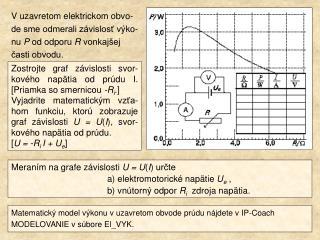 Meraním na grafe závislosti  U = U ( I ) určte  a) elektromotorické napätie  U e  ,