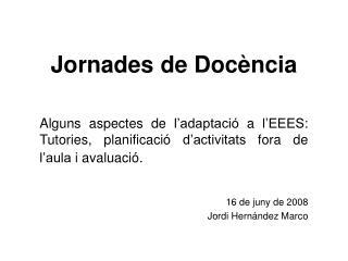 Jornades de Doc�ncia