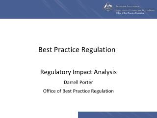 Best Practice Regulation