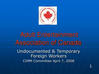 Adult Entertainment        Association of Canada