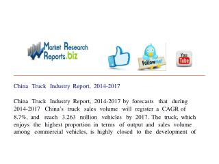 China Truck Industry Report, 2014-2017