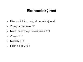 Ekonomický rast