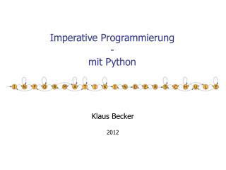 Imperative Programmierung  - mit Python