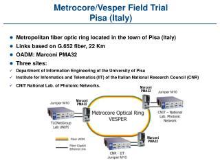 Metrocore/Vesper Field Trial Pisa (Italy)