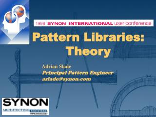 Pattern Libraries: Theory