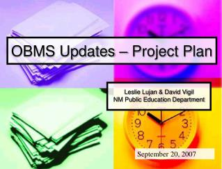 OBMS Updates – Project Plan
