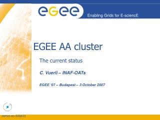 EGEE AA cluster