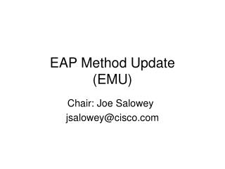 EAP Method Update (EMU)