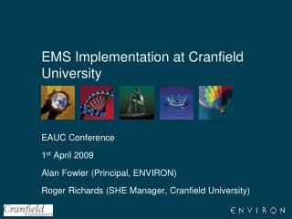 EMS Implementation at Cranfield University