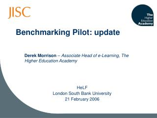 Benchmarking Pilot: update