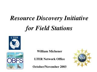 Resource Discovery Initiative for Field Stations