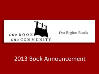 2013 Book Announcement