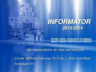 INFORMATOR 2013/2014
