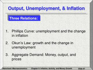 Output, Unemployment,  Inflation