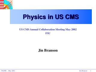 Physics in US CMS