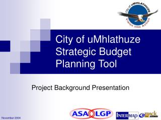 City of uMhlathuze Strategic Budget Planning Tool