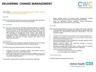 CASE STUDY  –  OXFORD AND BUCKINGHAMSHIRE MENTAL HEALTH NHS FOUNDATION TRUST (OBMH) HEADLINE
