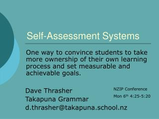 Self-Assessment Systems