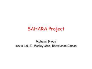 SAHARA Project