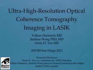 Ultra-High-Resolution Optical Coherence Tomography Imaging in LASIK