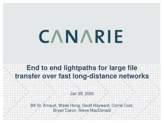 End to end lightpaths for large file transfer over fast long-distance networks