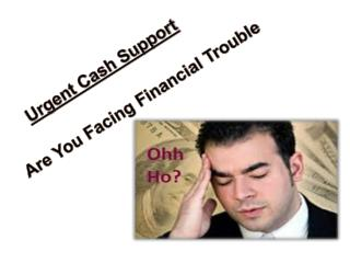 Quickly Solve Your Short Term Financial Troubles