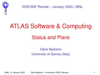 ATLAS Software & Computing Status and Plans