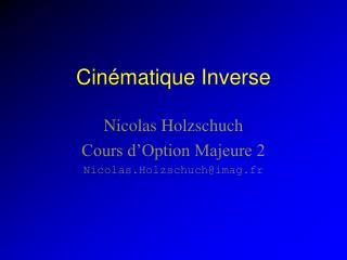 Cinématique Inverse