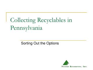 Collecting Recyclables in Pennsylvania