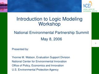 Introduction to Logic Modeling Workshop