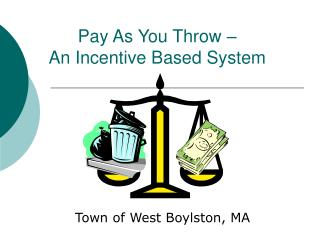 Pay As You Throw –  An Incentive Based System