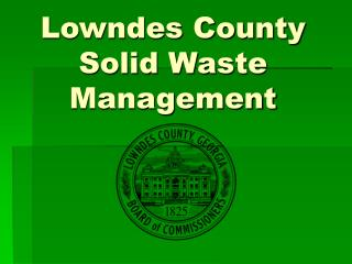 Lowndes County Solid Waste Management