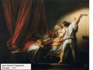 Jean- Honoré  Fragonard The Bolt     1777