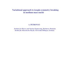 Variational approach to isospin symmetry breaking
