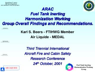 ARAC Fuel Tank Inerting  Harmonization Working  Group  Overall Findings and Recommendations.