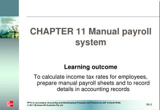 CHAPTER 11 Manual payroll system