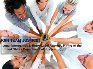 Legal Internships & Entry-Level Attorney Hiring At the  United States Department of Justice