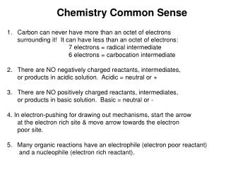 Chemistry Common Sense
