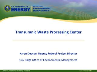 Transuranic Waste Processing Center
