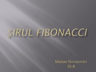 şirul Fibonacci