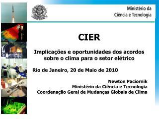 CIER Implicações e oportunidades dos acordos sobre o clima para o setor elétrico